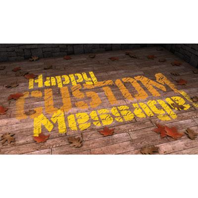 Message On Floor Custom Presentation clipart