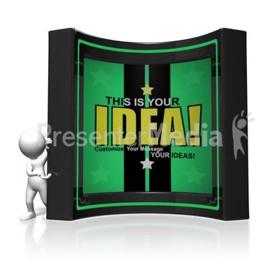Presenting Box Feature Custom Presentation clipart