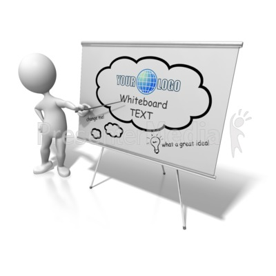 Figure Presenting Custom Board Presentation clipart