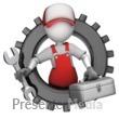 Maintenance Figure In Gear Presentation Clipart