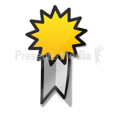 Ribbon Sticker Icon Presentation clipart