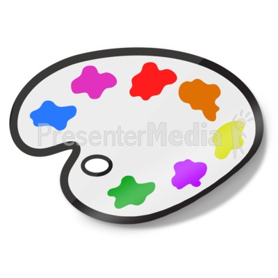 Painters Palette Icon Sticker Presentation clipart