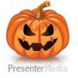 Single Scary Pumpkin Presentation Clipart