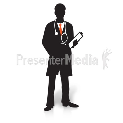 doctor clipboard silhouette - presentation clipart - great clipart