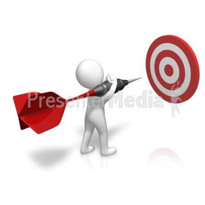 Figure Sizing Up Target Presentation clipart