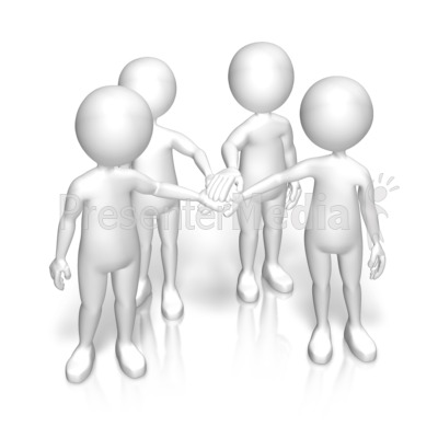 Figures Huddle Team Presentation clipart