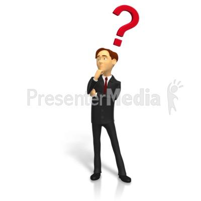 Businessman Posing Question Presentation clipart