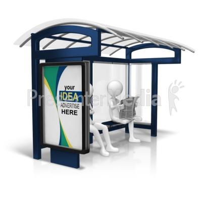Custom Bus Stop Display Presentation clipart