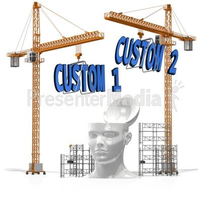 Custom Text Into Head Presentation clipart