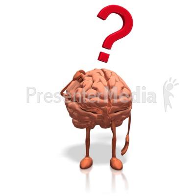 Brain Posing Question Presentation clipart