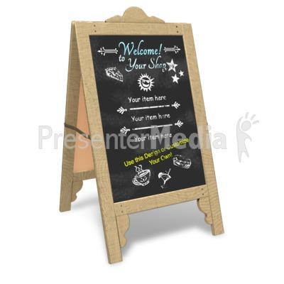 Custom Sidewalk Cafe Sign Presentation clipart