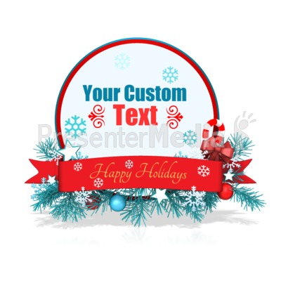 Custom Festive Christmas Circle Banner Presentation clipart