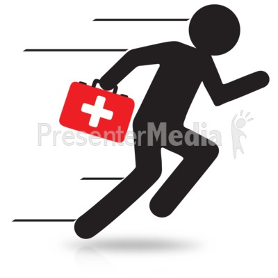 Figure Medical Run Presentation clipart