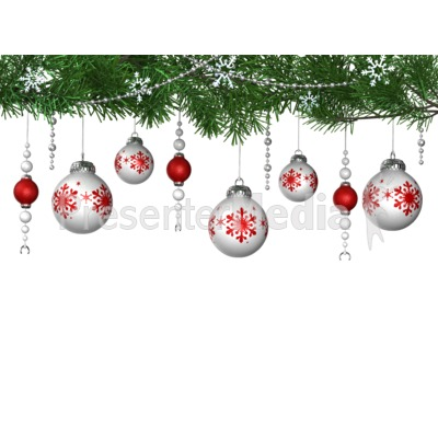 Hanging Ornaments From Pine Presentation clipart
