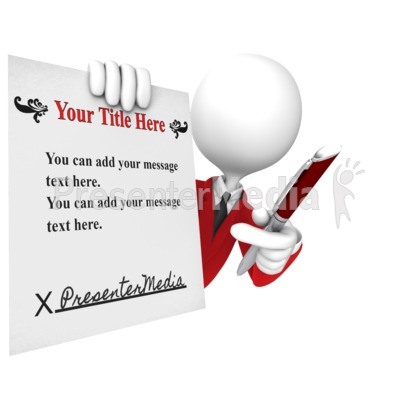 Custom Contract Presentation clipart
