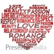 Heart Made Of Words Presentation Clipart