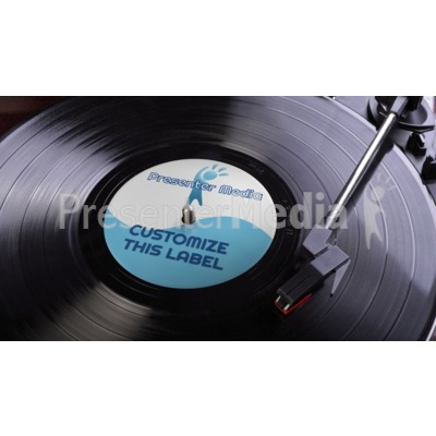 Lp Record Label Custom Presentation clipart
