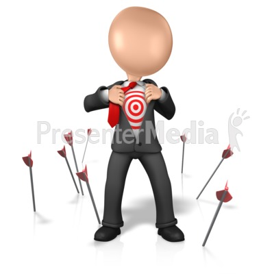 Figure With Target On Chest Presentation clipart