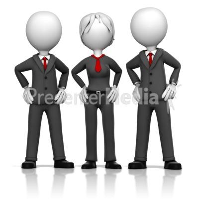 Three Business Executives Presentation clipart