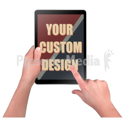 Hands Touch Device Custom Presentation clipart