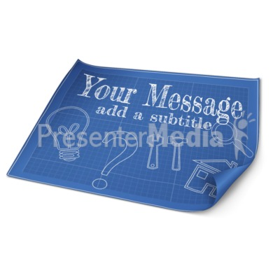 Custom Blueprint Paper Presentation clipart