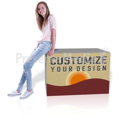 Teen Girl Lean Custom Presentation clipart