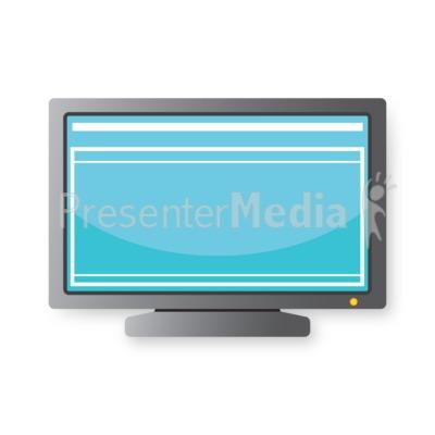 Computer Monitor Presentation clipart
