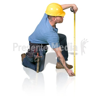 Construction Man Measure Up Presentation clipart