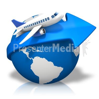 World Arrow Airplane Presentation clipart