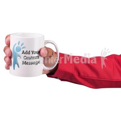 Hand Hold Coffee Mug Custom Presentation clipart