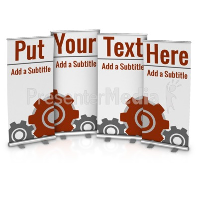 Four Custom Roller Banners Presentation clipart