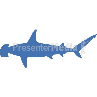 Hammerhead Shark Silhouette Presentation clipart