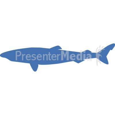 Greenland Shark Silhouette Presentation clipart