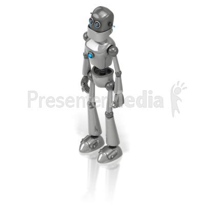 Retro Robot Presentation clipart