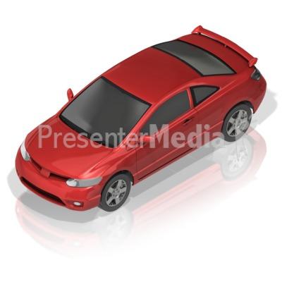 Compact Car Presentation clipart
