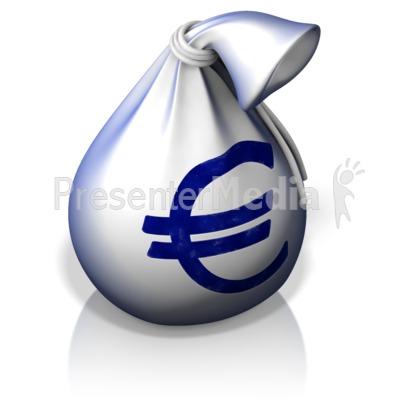 Euro Money Bag Presentation clipart