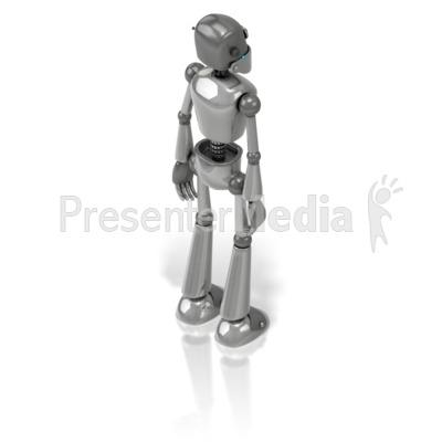 Retro Robot Back Presentation clipart