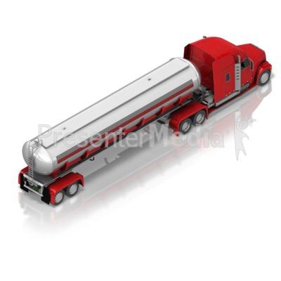 Fuel Truck Back Isometric Presentation clipart