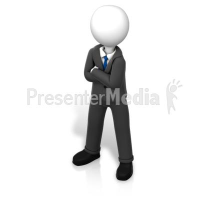 Figure Power Stance Isometric Presentation clipart