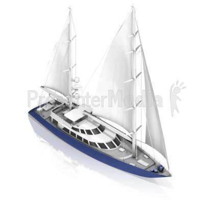 Sail Boat Presentation clipart