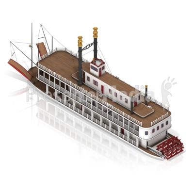 Paddle Steamer PowerPoint Clip Art