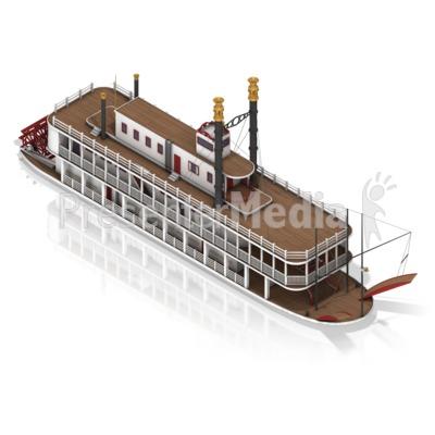 Paddle Steamer Presentation Clipart