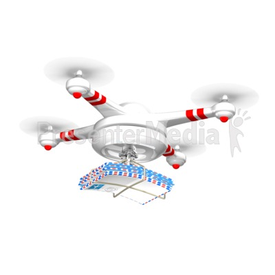 Drone Carrying Mail Presentation clipart