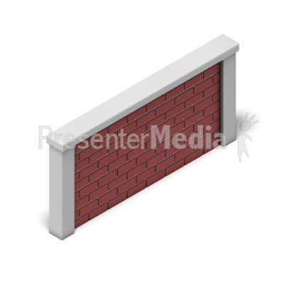 Brick Wall Isometric Presentation clipart