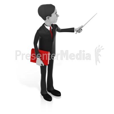 Man Pointer Book Presentation clipart