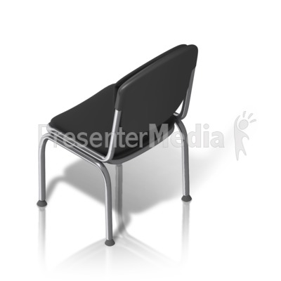 Metal Chair Back Isometric Presentation clipart