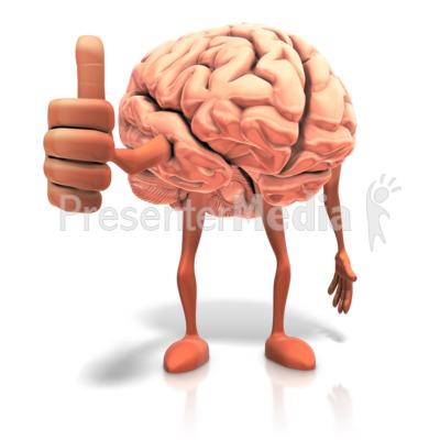 Positive Thinking Brain Presentation clipart