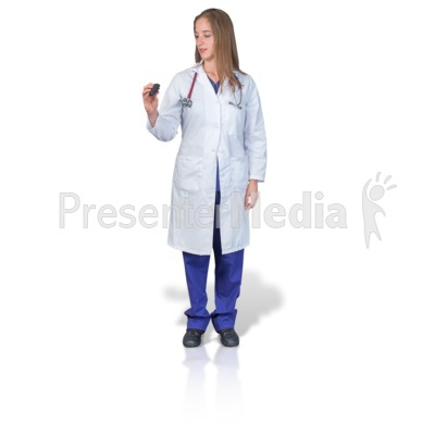 Female Doctor or Nurse with Pager Presentation clipart