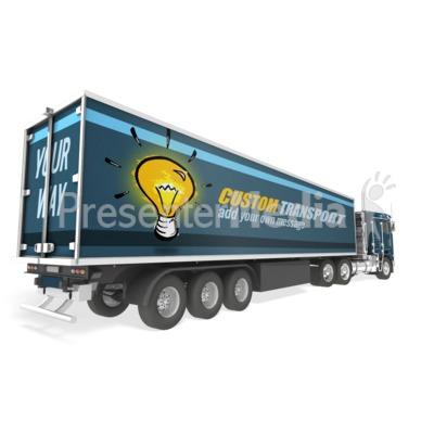 Semi Truck Custom Presentation clipart