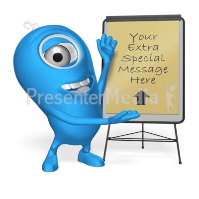 Character Flip Board Presentation clipart